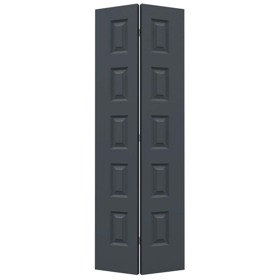 JELD-WEN Rockport Slate Hollow Core Molded Composite Bi-Fold Closet Interior Door with Hardware (Common: 32-in x 80-in; Actual: 31.5-in x 79-in)