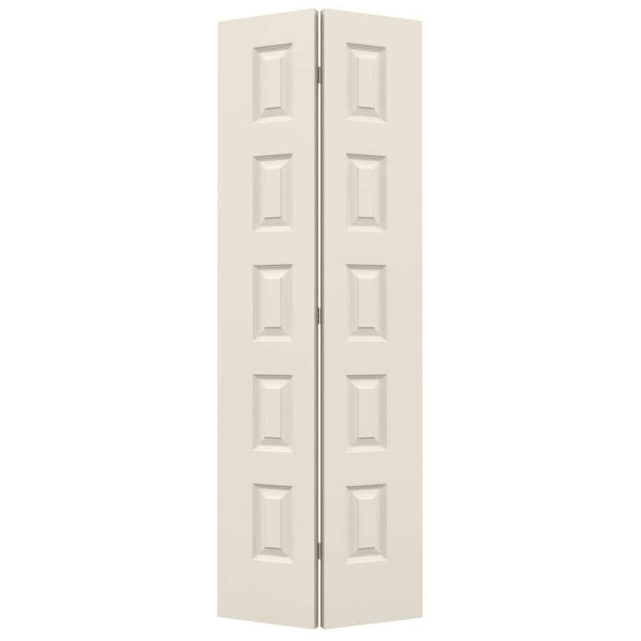 JELD-WEN Rockport Primed Hollow Core Molded Composite Bi-Fold Closet Interior Door with Hardware (Common: 28-in x 80-in; Actual: 27.5-in x 79-in)