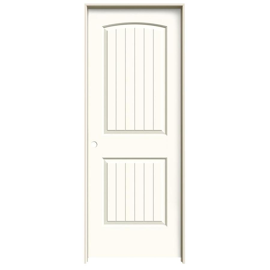 JELD-WEN Santa Fe White Hollow Core Molded Composite Single Prehung Interior Door (Common: 24-in x 80-in; Actual: 25.562-in x 81.688-in)