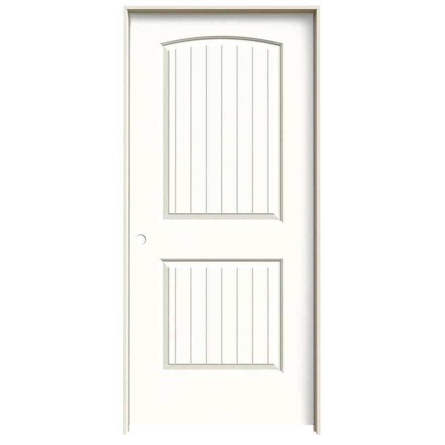JELD-WEN Santa Fe Moonglow Hollow Core Molded Composite Single Prehung Interior Door (Common: 36-in x 80-in; Actual: 37.5620-in x 81.6880-in)