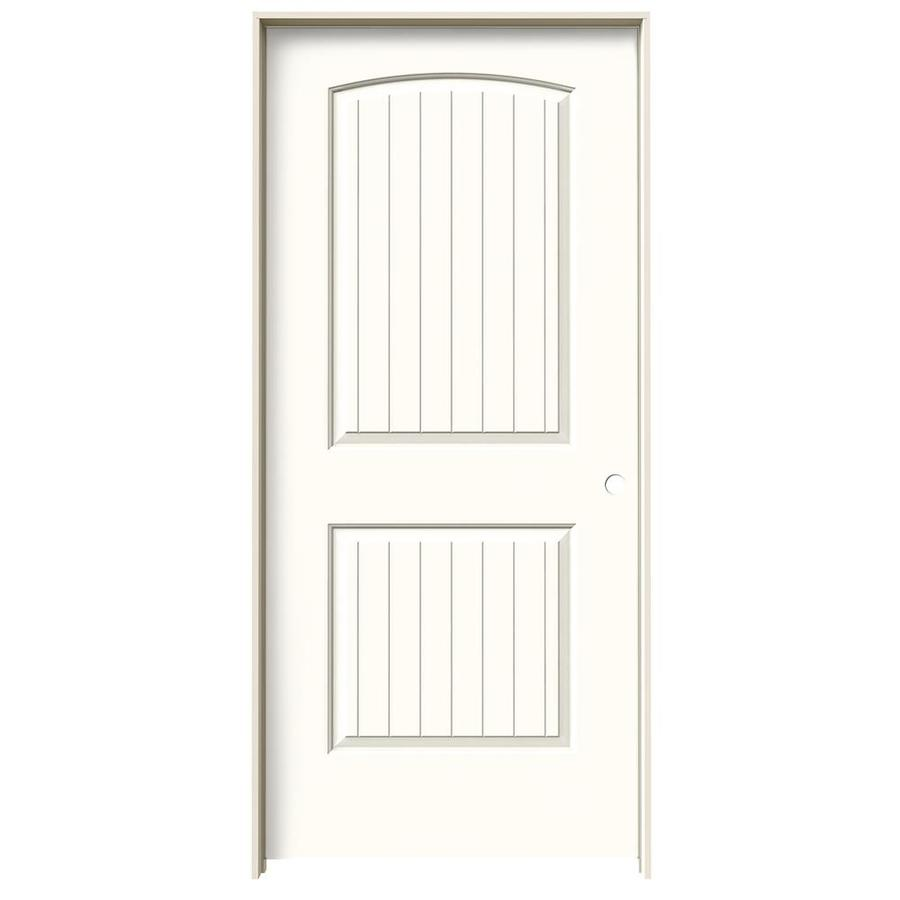JELD-WEN Santa Fe Moonglow Single Prehung Interior Door (Common: 36-in x 80-in; Actual: 37.562-in x 81.688-in)