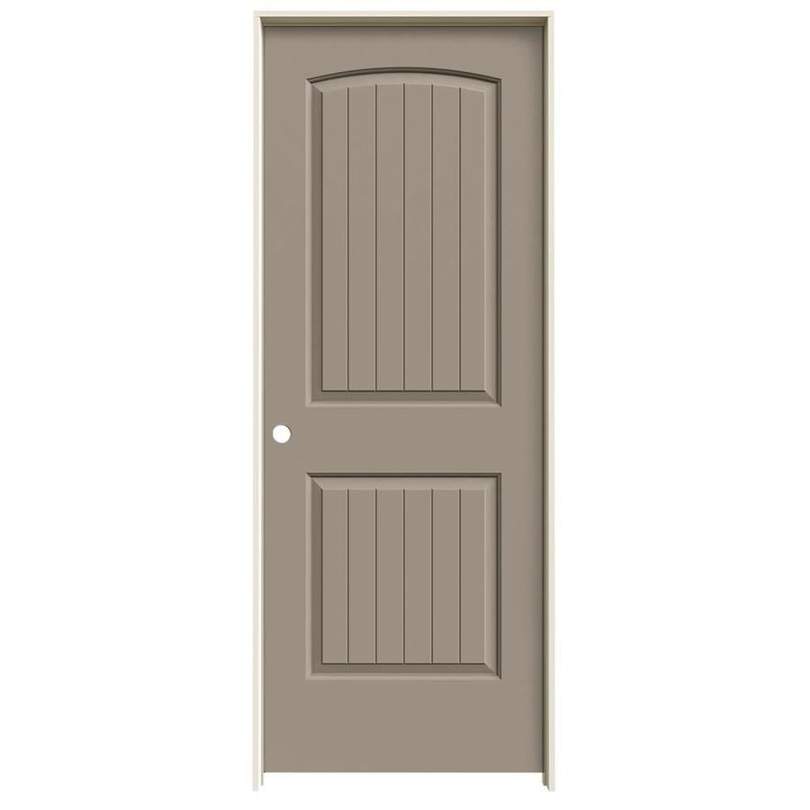 JELD-WEN Santa Fe Sand Piper Hollow Core Molded Composite Single Prehung Interior Door (Common: 32-in x 80-in; Actual: 33.562-in x 81.688-in)