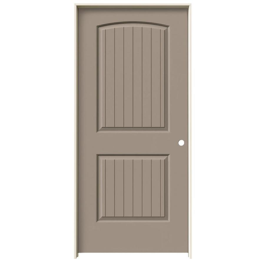 JELD-WEN Santa Fe Sand Piper Hollow Core Molded Composite Single Prehung Interior Door (Common: 36-in x 80-in; Actual: 37.562-in x 81.688-in)