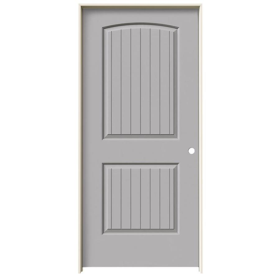 JELD-WEN Santa Fe Drift Hollow Core Molded Composite Single Prehung Interior Door (Common: 36-in x 80-in; Actual: 37.562-in x 81.688-in)