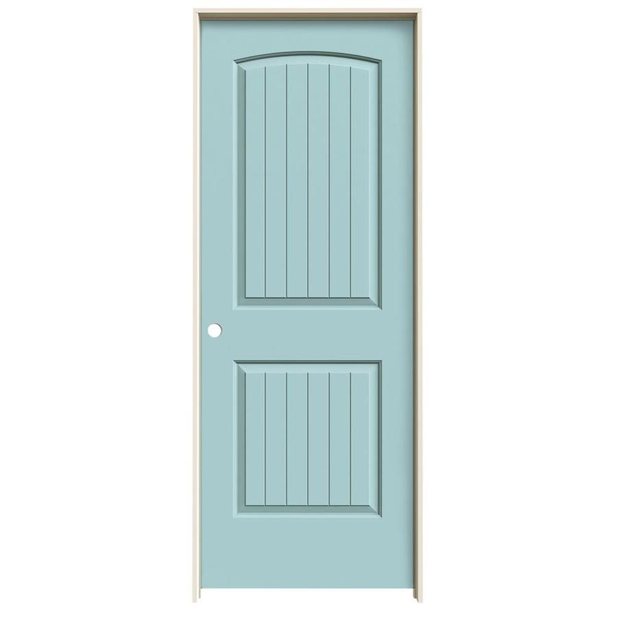 JELD-WEN Santa Fe Sea Mist Hollow Core Molded Composite Pine Single Prehung Interior Door (Common: 28-in x 80-in; Actual: 29.562-in x 81.688-in)