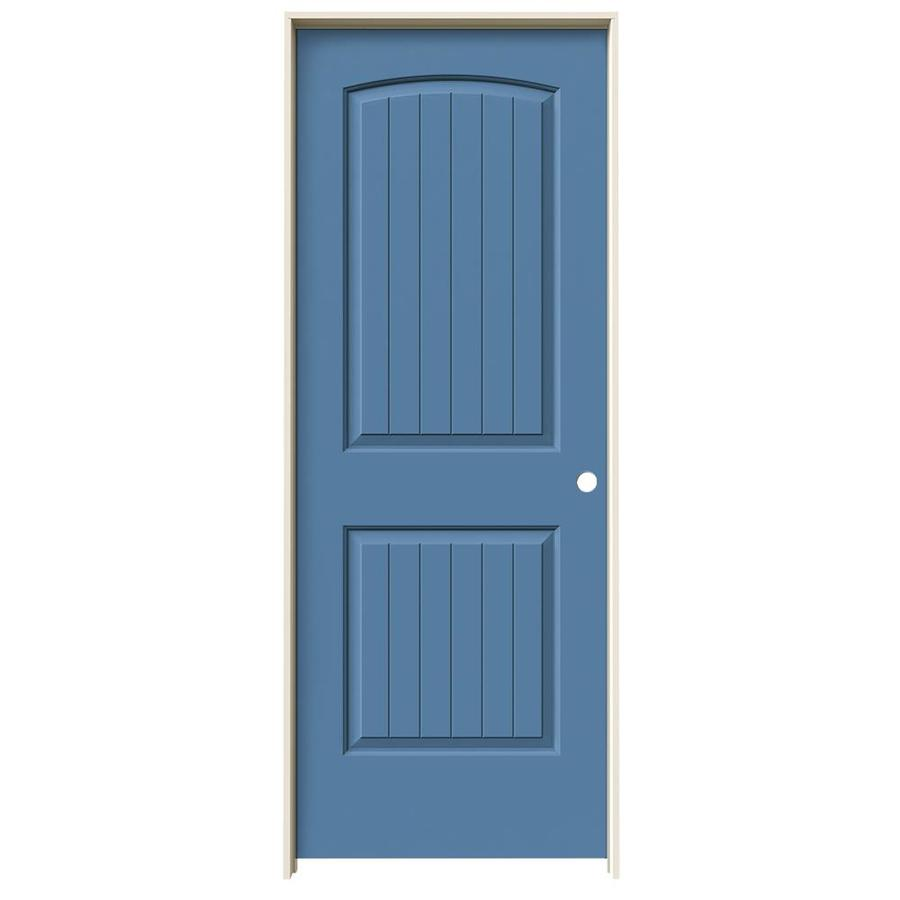 JELD-WEN Santa Fe Blue Heron Single Prehung Interior Door (Common: 32-in x 80-in; Actual: 33.562-in x 81.688-in)