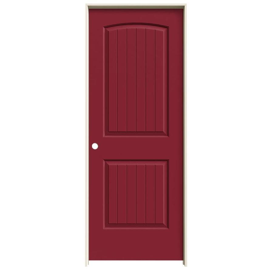 JELD-WEN Santa Fe Barn Red Hollow Core Molded Composite Single Prehung Interior Door (Common: 32-in x 80-in; Actual: 33.5620-in x 81.6880-in)