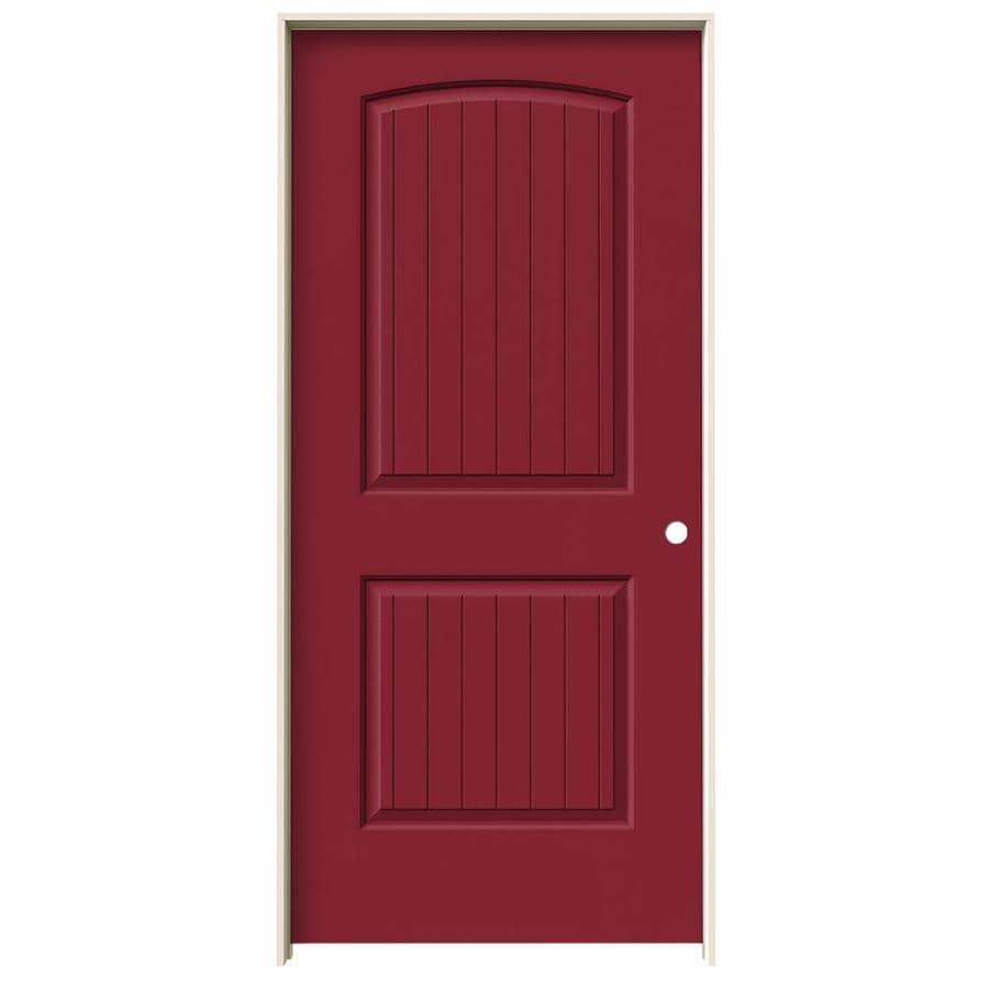 JELD-WEN Santa Fe Barn Red Single Prehung Interior Door (Common: 36-in x 80-in; Actual: 37.562-in x 81.688-in)