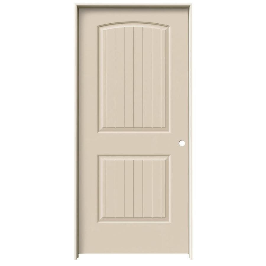 JELD-WEN Santa Fe Cream-N-Sugar Solid Core Molded Composite Single Prehung Interior Door (Common: 36-in x 80-in; Actual: 37.562-in x 81.688-in)