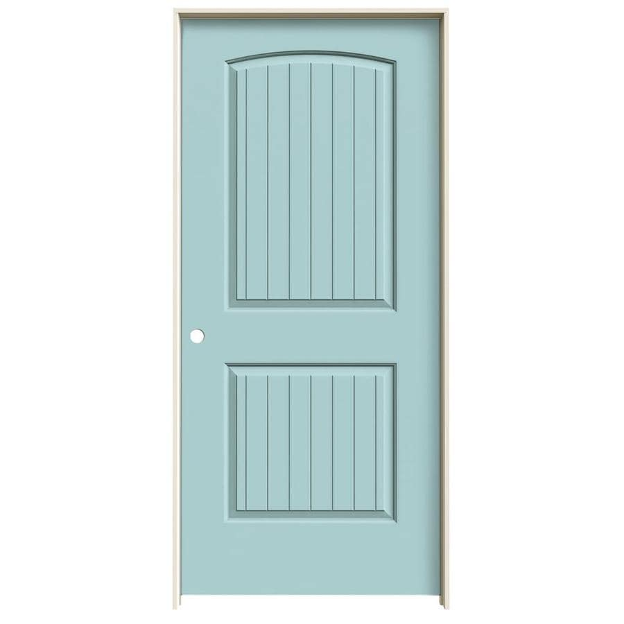 JELD-WEN Santa Fe Sea Mist Single Prehung Interior Door (Common: 36-in x 80-in; Actual: 37.562-in x 81.688-in)