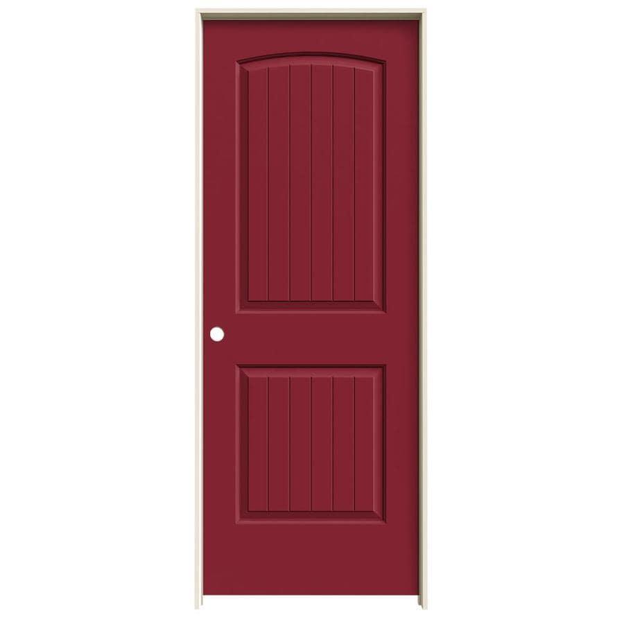 JELD-WEN Santa Fe Barn Red Solid Core Molded Composite Single Prehung Interior Door (Common: 28-in x 80-in; Actual: 29.5620-in x 81.6880-in)