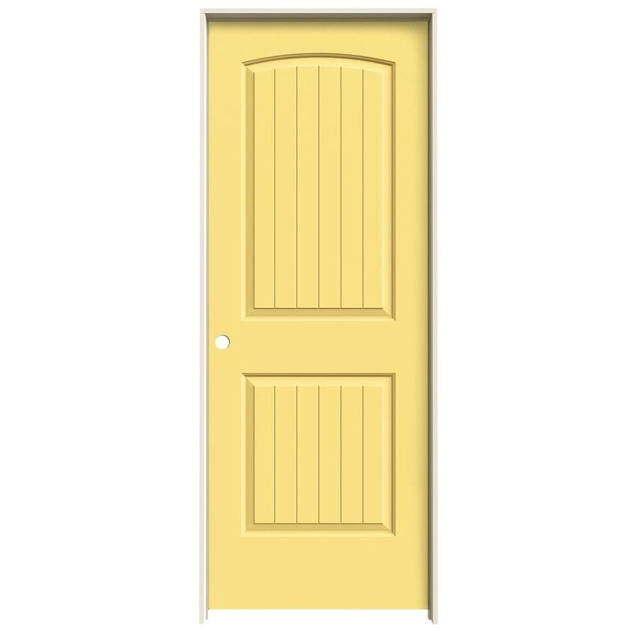 JELD-WEN Santa Fe Marigold Single Prehung Interior Door (Common: 32-in x 80-in; Actual: 33.5620-in x 81.6880-in)