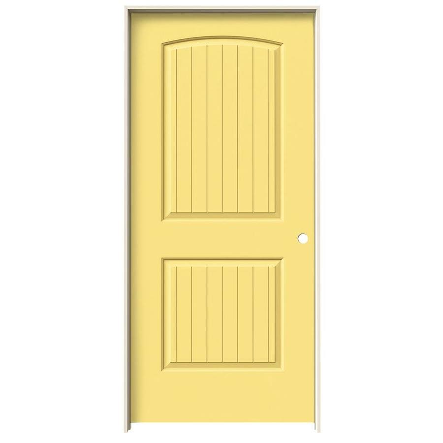 JELD-WEN Santa Fe Marigold Solid Core Molded Composite Single Prehung Interior Door (Common: 36-in x 80-in; Actual: 37.562-in x 81.688-in)