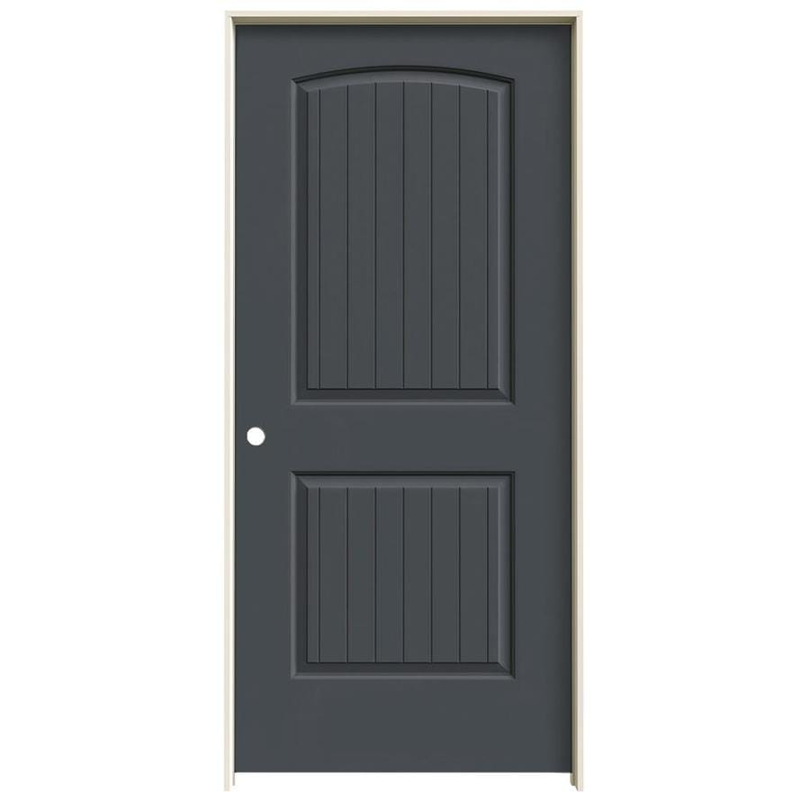 JELD-WEN Santa Fe Slate Solid Core Molded Composite Single Prehung Interior Door (Common: 36-in x 80-in; Actual: 37.5620-in x 81.6880-in)