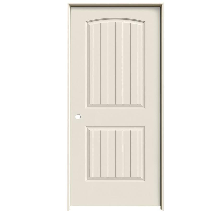 JELD-WEN 2-panel Round Top Plank Single Prehung Interior Door (Common: 36-in x 80-in; Actual: 37.562-in x 81.688-in)