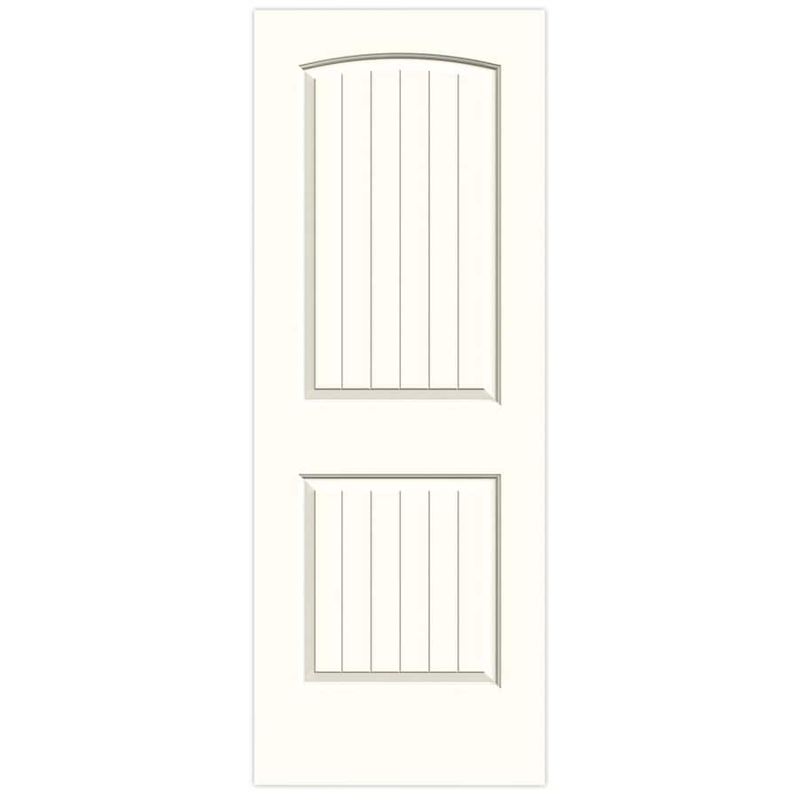 JELD-WEN Moonglow Hollow Core 2-Panel Round Top Plank Slab Interior Door (Common: 28-in x 80-in; Actual: 28-in x 80-in)