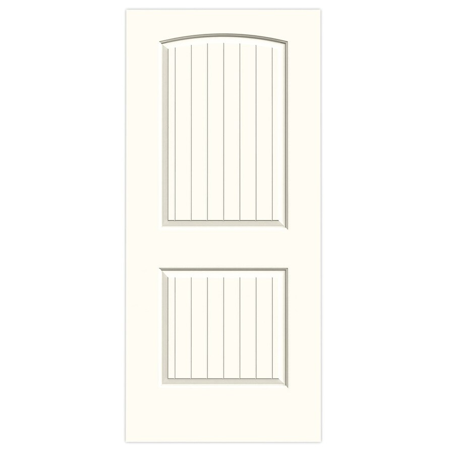 JELD-WEN Moonglow Hollow Core 2-Panel Round Top Plank Slab Interior Door (Common: 36-in x 80-in; Actual: 36-in x 80-in)
