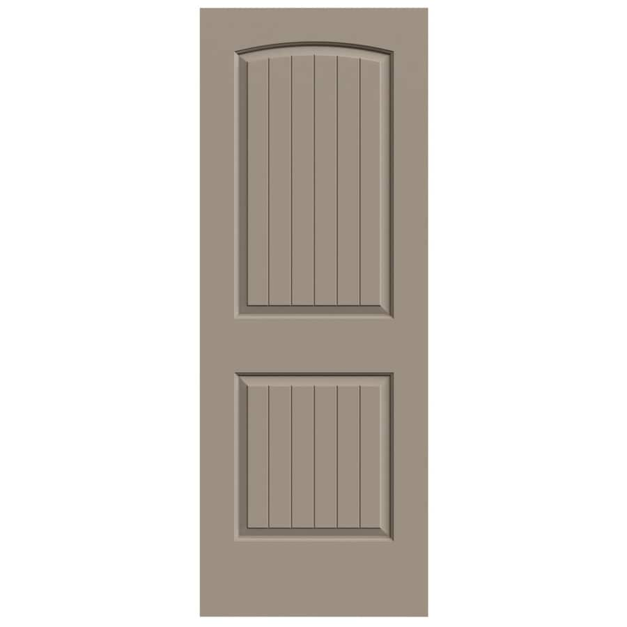 JELD-WEN Sand Piper Hollow Core 2-Panel Round Top Plank Slab Interior Door (Common: 28-in x 80-in; Actual: 28-in x 80-in)