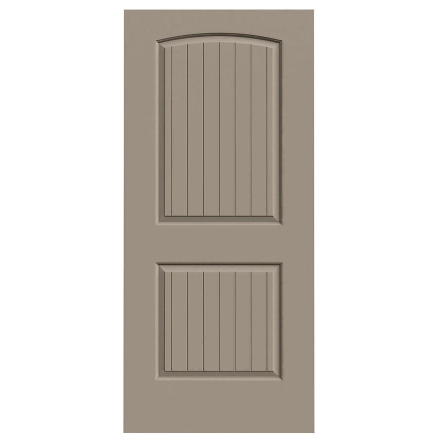 JELD-WEN Sand Piper Hollow Core 2-Panel Round Top Plank Slab Interior Door (Common: 36-in x 80-in; Actual: 36-in x 80-in)