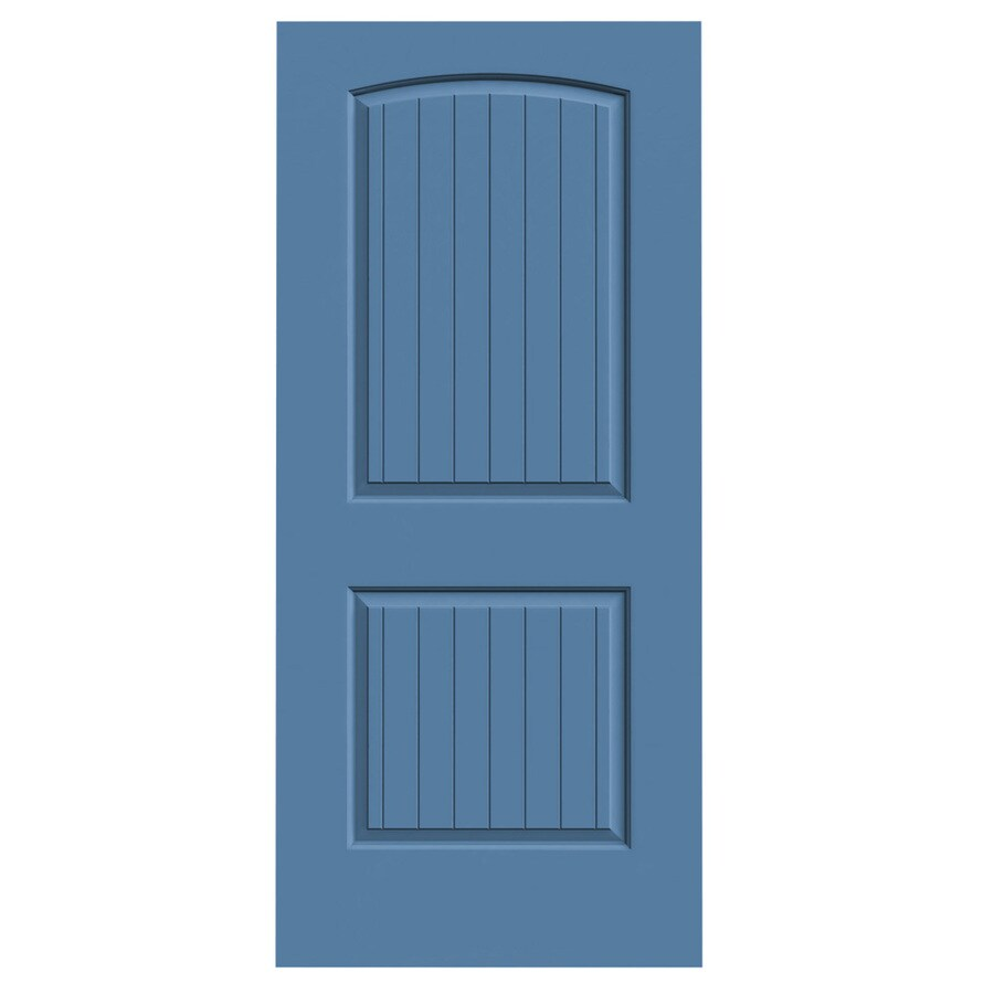 JELD-WEN Santa Fe Blue Heron Slab Interior Door (Common: 36-in x 80-in; Actual: 36-in x 80-in)