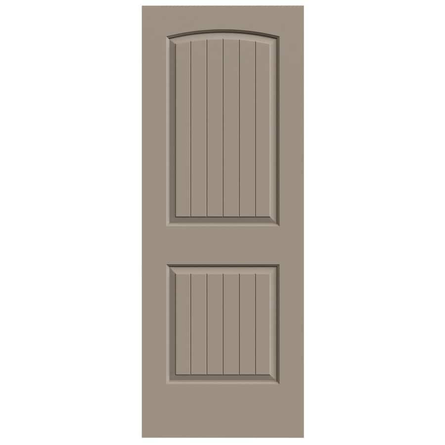 JELD-WEN Santa Fe Sand Piper Solid Core Molded Composite Slab Interior Door (Common: 32-in x 80-in; Actual: 32-in x 80-in)
