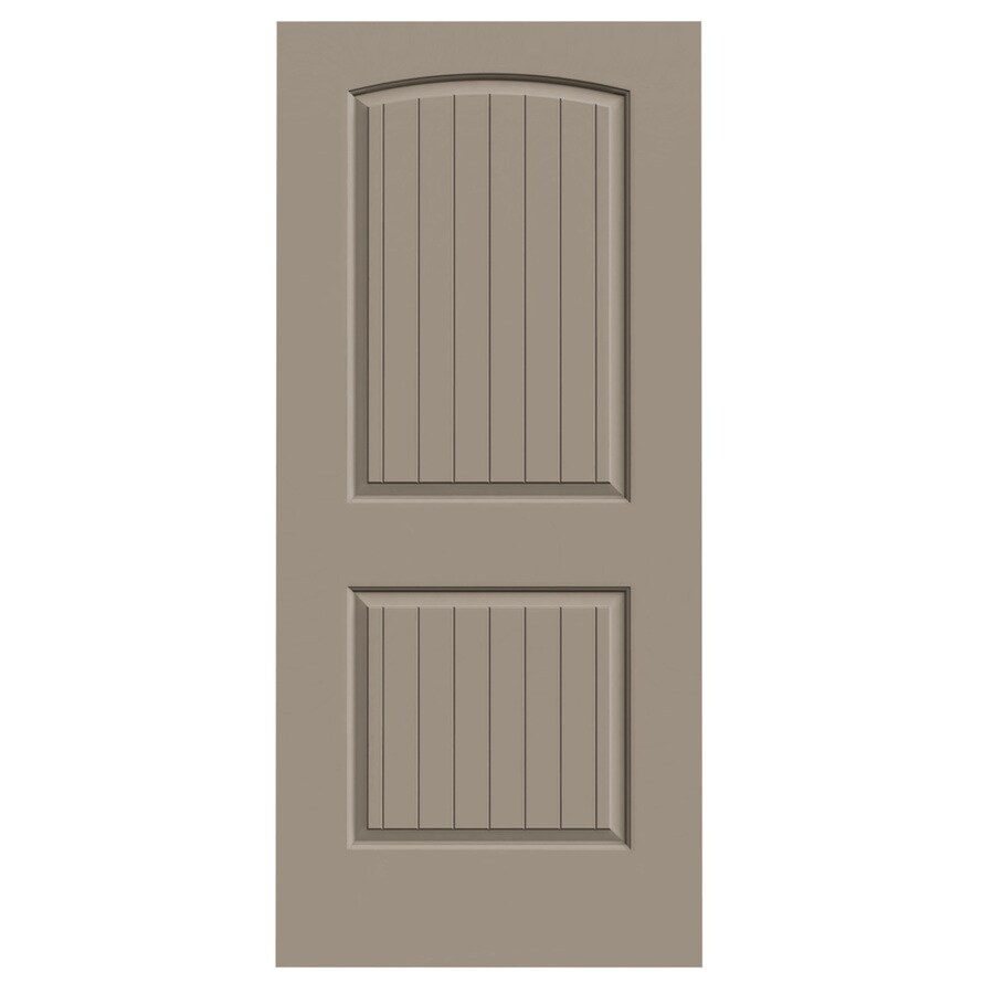 JELD-WEN Sand Piper Solid Core 2-Panel Round Top Plank Slab Interior Door (Common: 36-in x 80-in; Actual: 36-in x 80-in)