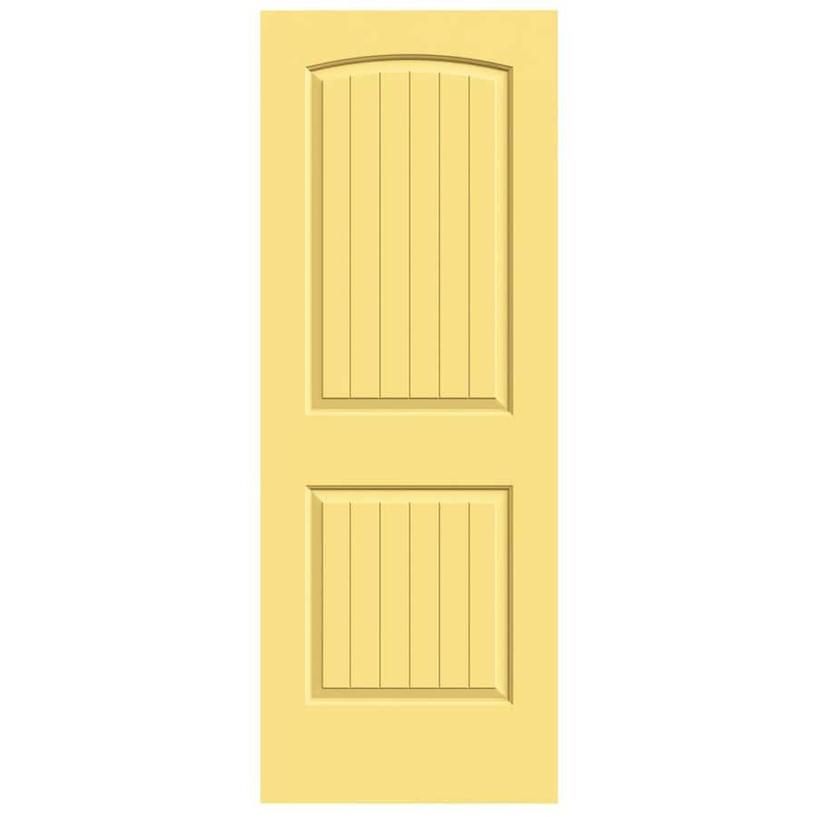 JELD-WEN Santa Fe Marigold Solid Core Molded Composite Slab Interior Door (Common: 30-in x 80-in; Actual: 30-in x 80-in)