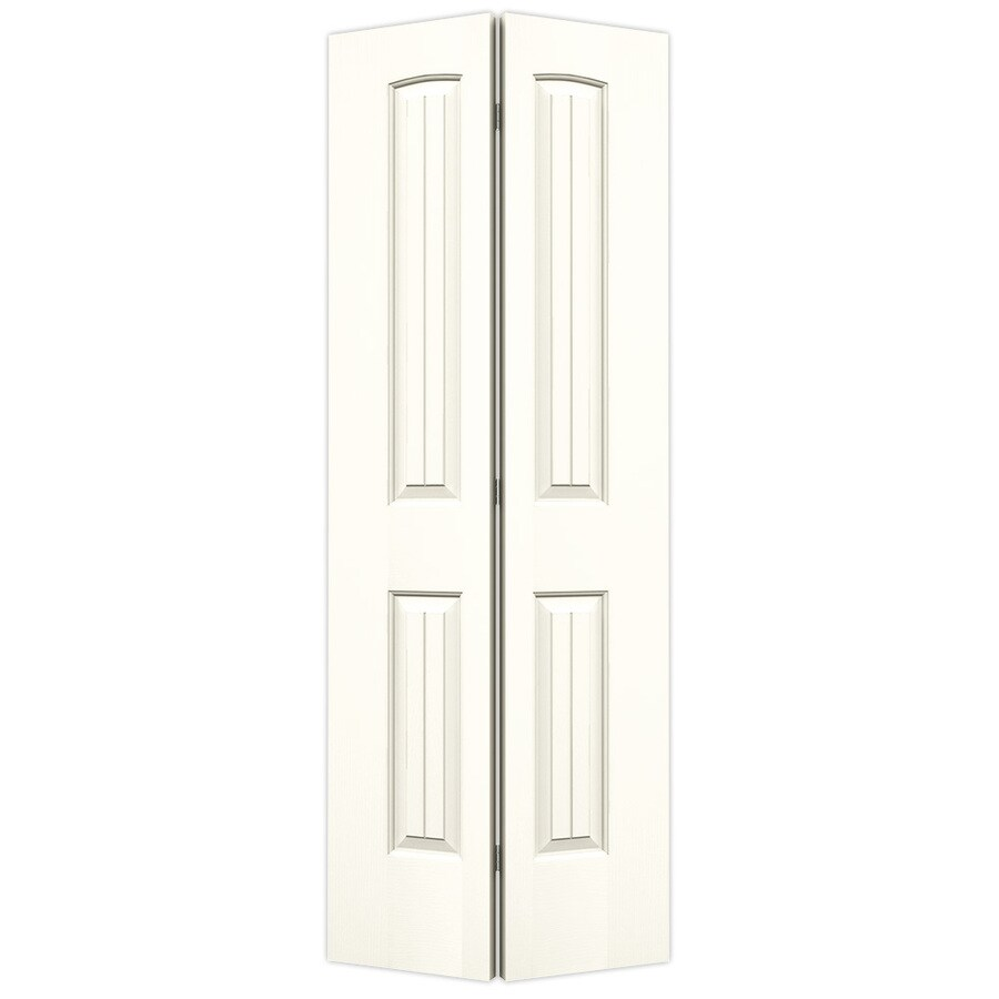 JELD-WEN Santa Fe White Hollow Core Molded Composite Bi-Fold Closet Interior Door with Hardware (Common: 30-in x 80-in; Actual: 29.5000-in x 79-in)