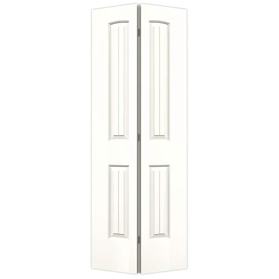 JELD-WEN Santa Fe Snow Storm Hollow Core Molded Composite Bi-Fold Closet Interior Door with Hardware (Common: 30-in x 80-in; Actual: 29.5000-in x 79-in)