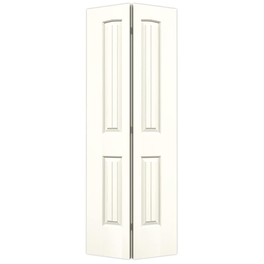 JELD-WEN Moonglow Hollow Core 2-Panel Round Top Plank Bi-Fold Closet Interior Door (Common: 32-in x 80-in; Actual: 31.5-in x 79-in)