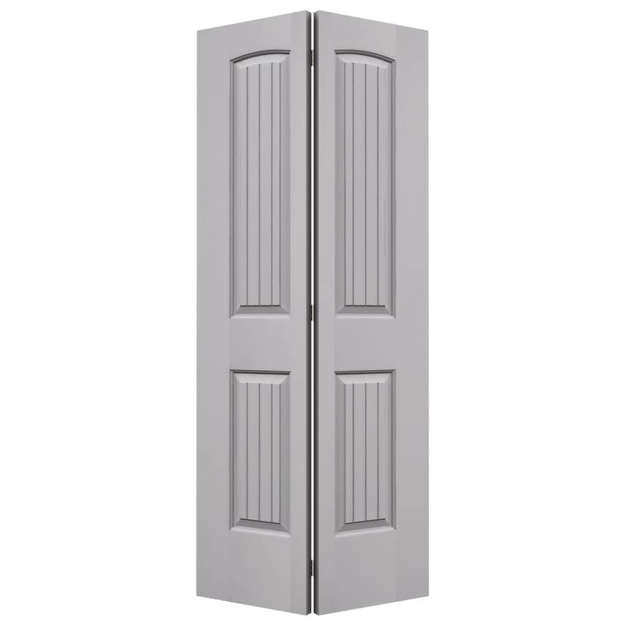 JELD-WEN Santa Fe Drift Hollow Core Molded Composite Bi-Fold Closet Interior Door with Hardware (Common: 36-in x 80-in; Actual: 35.5-in x 79-in)