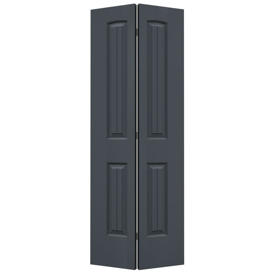 JELD-WEN Santa Fe Slate Bi-Fold Closet Interior Door (Common: 32-in x 80-in; Actual: 31.5000-in x 79-in)