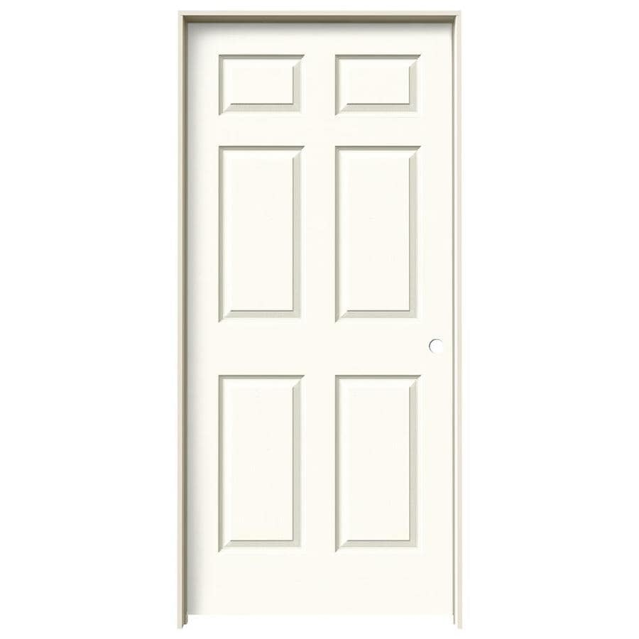 JELD-WEN Madison White Hollow Core Mirror Molded Composite Single Prehung Interior Door (Common: 36-in x 80-in; Actual: 81.688-in x 37.562-in)