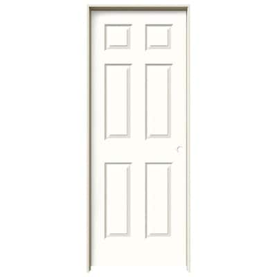 Jeld Wen Colonist Snow Storm 6 Panel Hollow Core Mirrored Glass Molded Composite Pre Hung Door Common 24 In X 80 In Actual 25 5625 In X 81 6875 In At Lowes Com