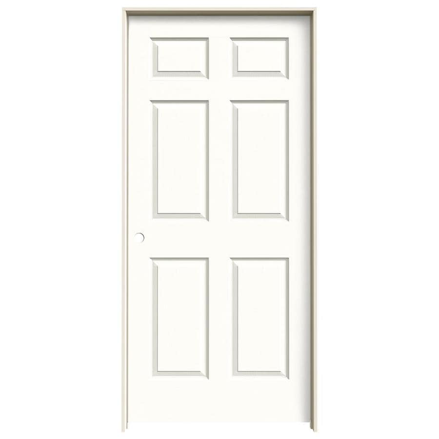 JELD-WEN Snow Storm Prehung Hollow Core 1-Panel Square Interior Door (Actual: 81.688-in x 37.562-in)