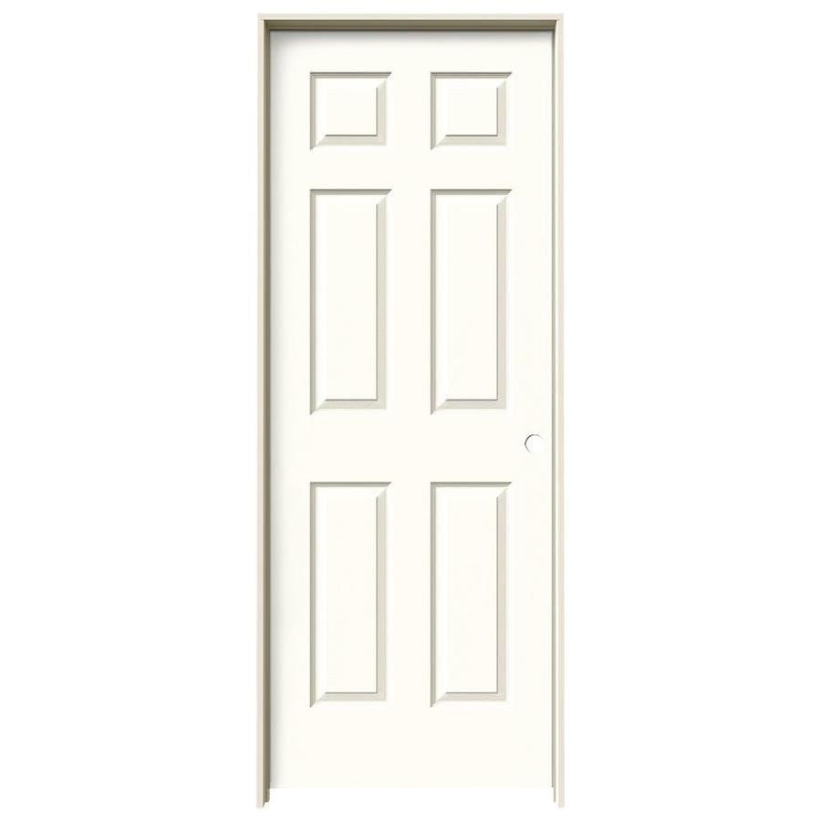 JELD-WEN Moonglow Prehung Hollow Core 1-Panel Square Interior Door (Actual: 81.688-in x 33.562-in)