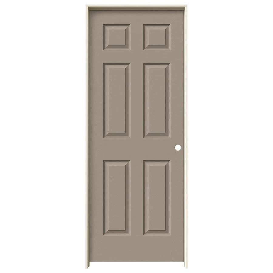 JELD-WEN Sand Piper 1-panel Square Mirror Single Prehung Interior Door (Common: 28-in x 80-in; Actual: 81.688-in x 29.562-in)