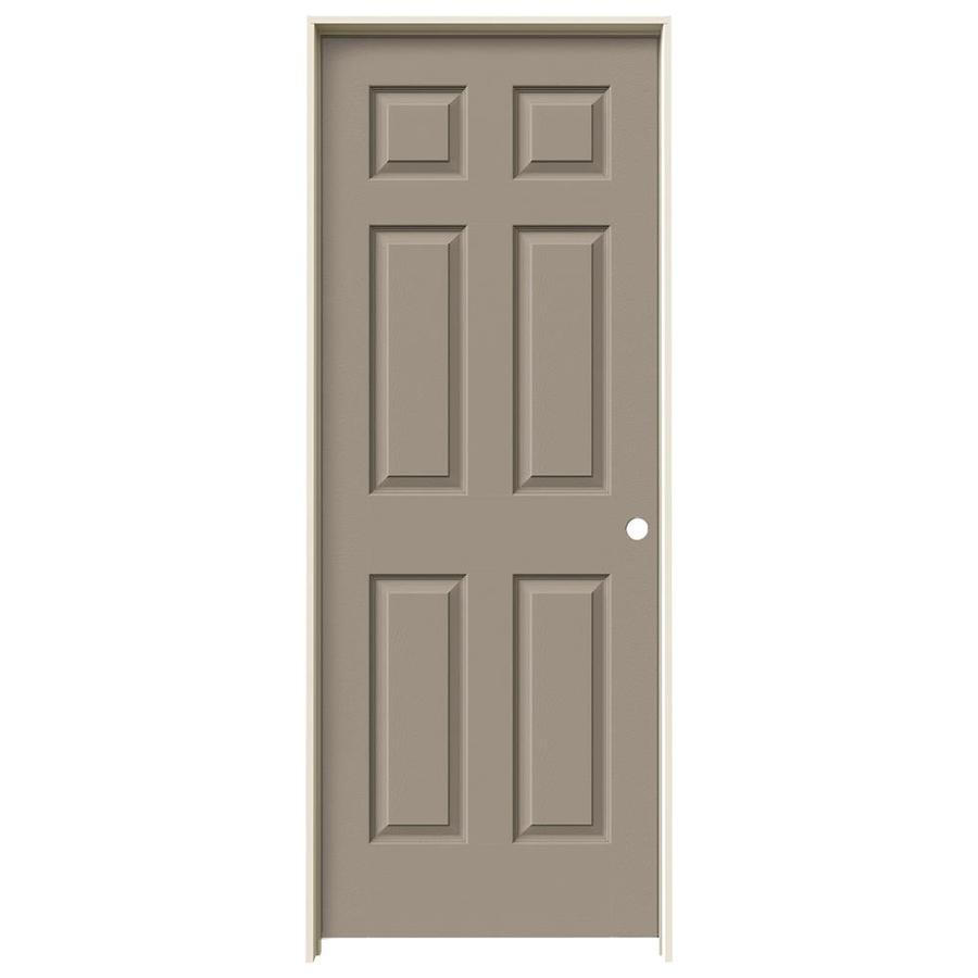 JELD-WEN Madison Sand Piper Hollow Core Mirror Molded Composite Single Prehung Interior Door (Common: 30-in x 80-in; Actual: 81.688-in x 31.562-in)