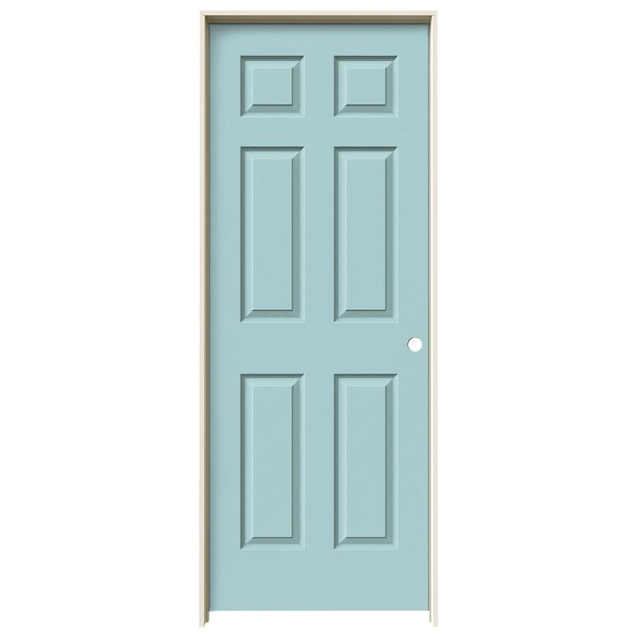 JELD-WEN Madison Sea Mist Hollow Core Mirror Molded Composite Single Prehung Interior Door (Common: 28-in x 80-in; Actual: 29.562-in x 81.688-in)