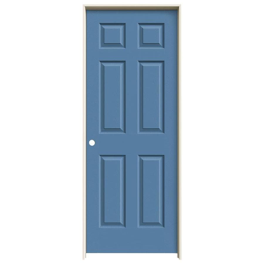 JELD-WEN Blue Heron 1-panel Square Mirror Single Prehung Interior Door (Common: 24-in x 80-in; Actual: 81.688-in x 25.562-in)