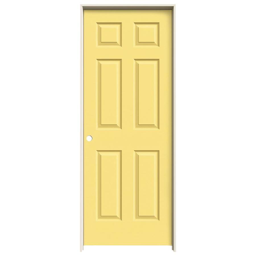 JELD-WEN Madison Marigold Hollow Core Mirror Molded Composite Single Prehung Interior Door (Common: 30-in x 80-in; Actual: 81.688-in x 31.562-in)