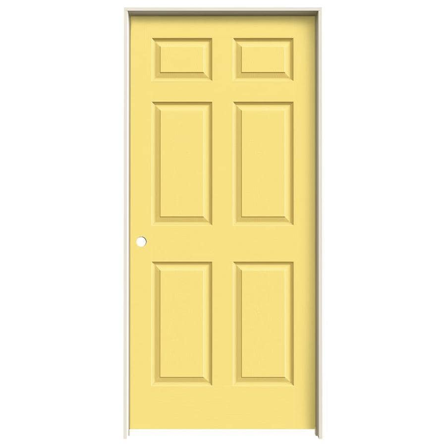 JELD-WEN Madison Marigold Hollow Core Mirror Molded Composite Single Prehung Interior Door (Common: 36-in x 80-in; Actual: 81.688-in x 37.562-in)