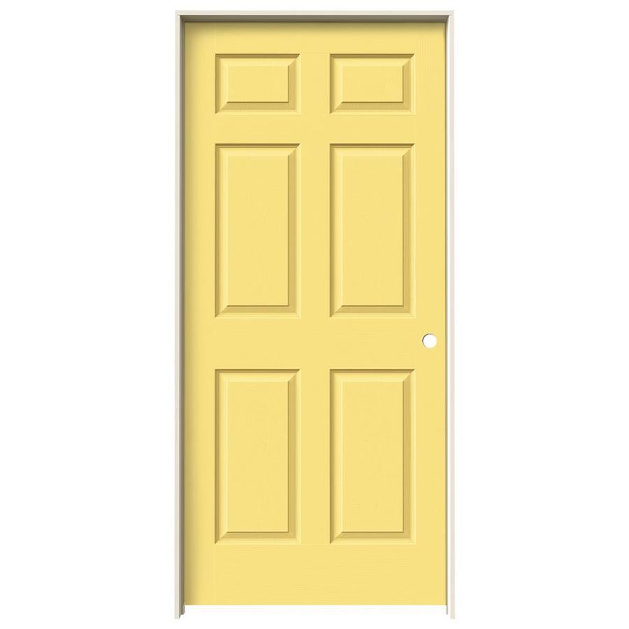 JELD-WEN Marigold Hollow Core Mirror Molded Composite Single Prehung Interior Door (Common: 36-in x 80-in; Actual: 81.688-in x 37.562-in)