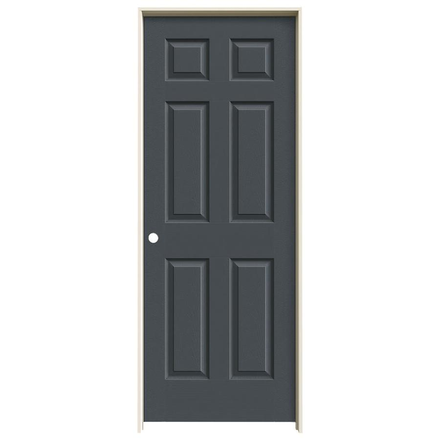 JELD-WEN Slate Prehung Hollow Core 1-Panel Square Interior Door (Actual: 81.688-in x 31.562-in)