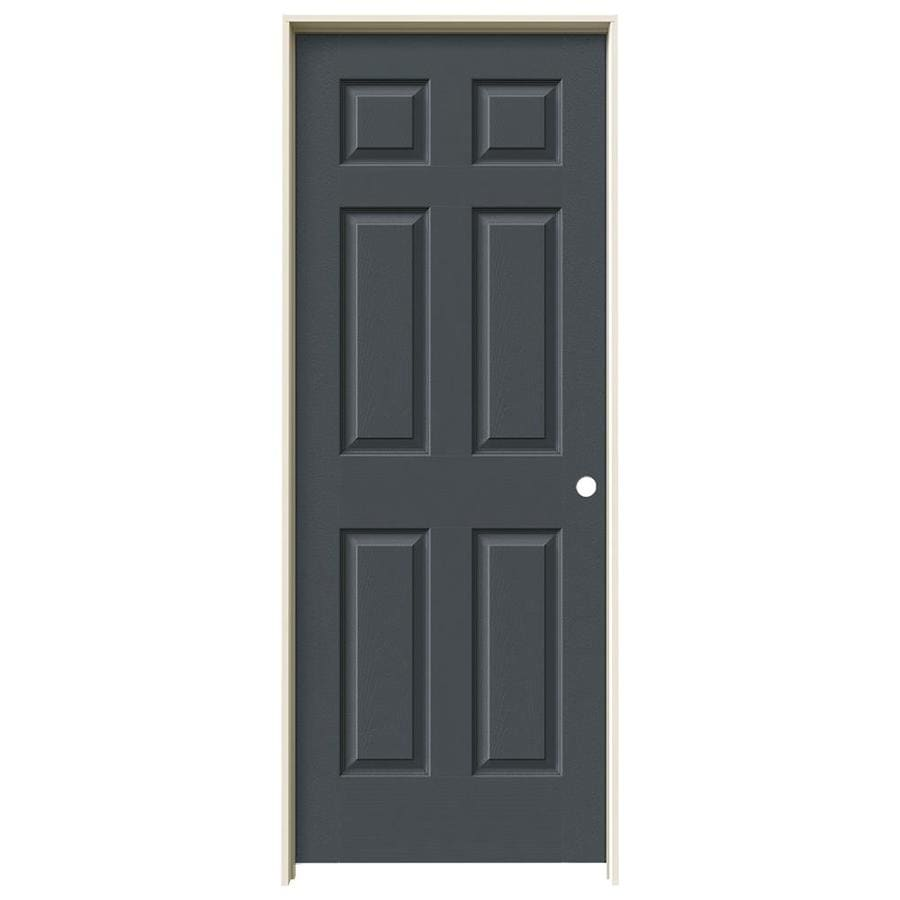 JELD-WEN Slate Prehung Hollow Core 1-Panel Square Interior Door (Actual: 81.688-in x 33.562-in)