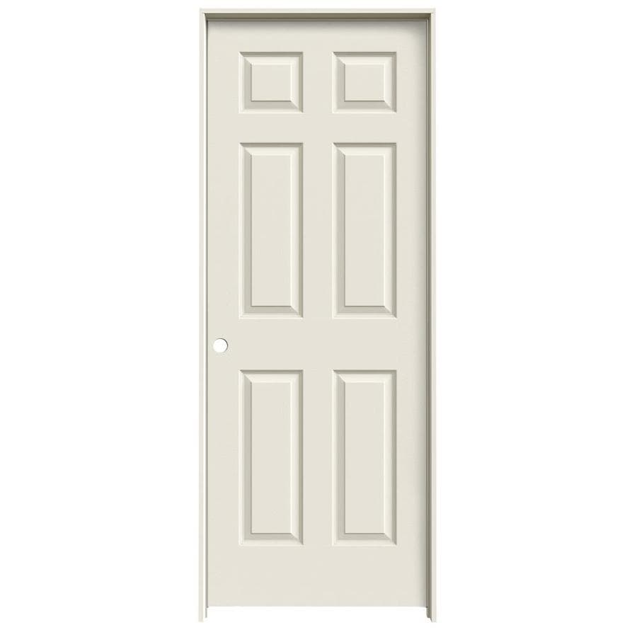 JELD-WEN Prehung Hollow Core 1-Panel Square Interior Door (Actual: 81.688-in x 29.562-in)