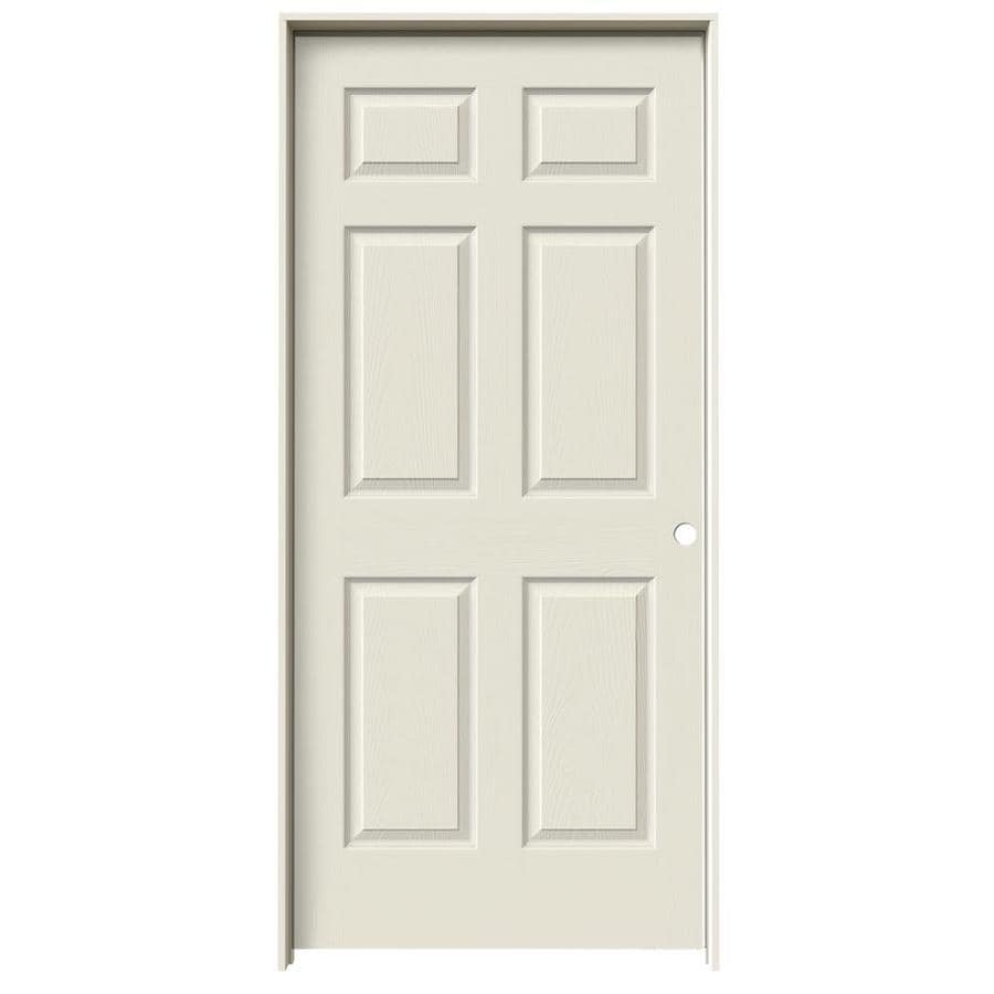 JELD-WEN Madison Primed Hollow Core Mirror Molded Composite Prehung Interior Door (Common: 36-in x 80-in; Actual: 81.688-in x 37.562-in)