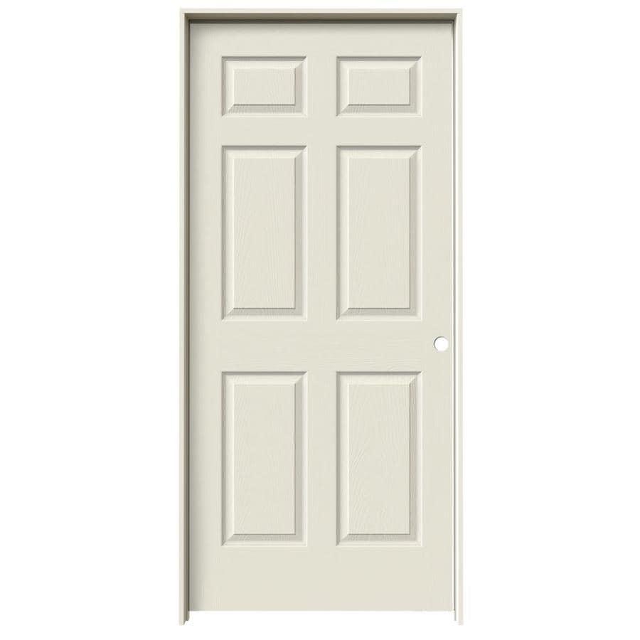 JELD-WEN Prehung Hollow Core 1-Panel Square Interior Door (Actual: 81.688-in x 37.562-in)