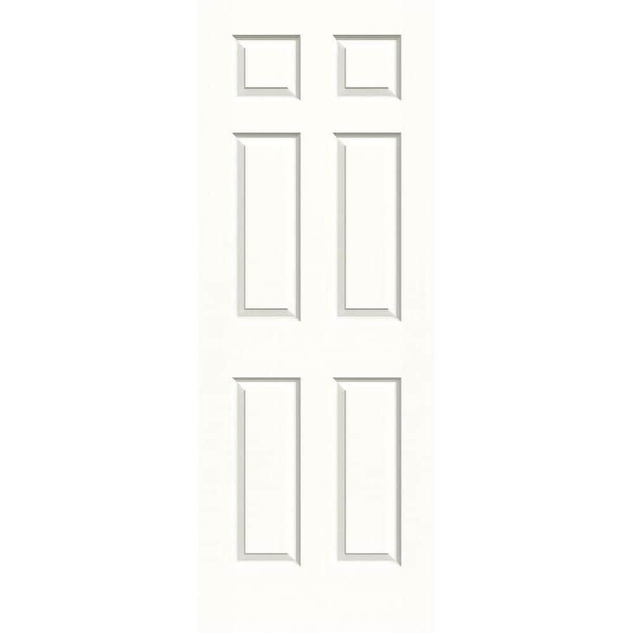 JELD-WEN Snow Storm Hollow Core 1-Panel Square Mirror Slab Interior Door (Common: 28-in x 80-in; Actual: 28-in x 80-in)