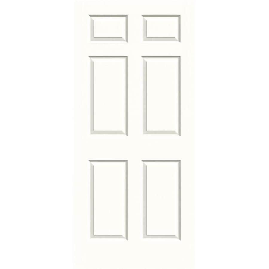 JELD-WEN Colonist Snow Storm Hollow Core 1-Panel Square Mirror Slab Interior Door (Common: 36-in x 80-in; Actual: 36-in x 80-in)
